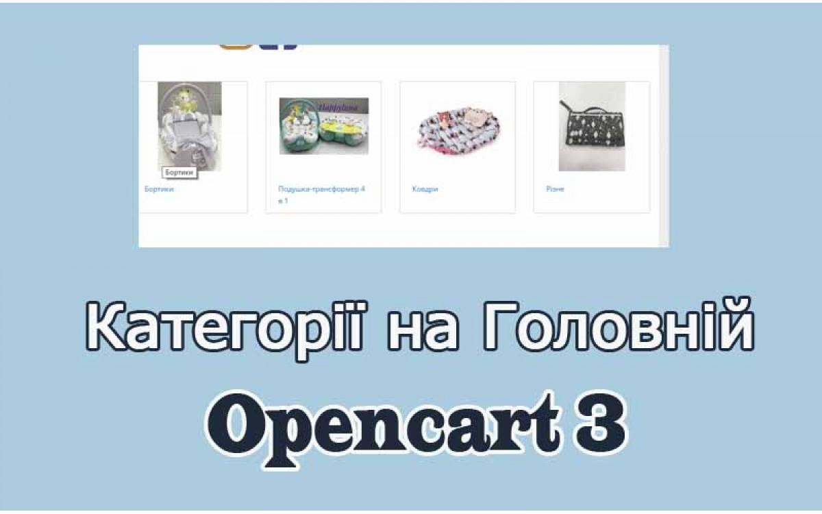 Стіна категорій - Category wall українською