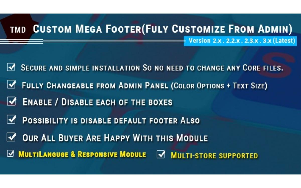 Модуль TMD Mega Footer Опенкарт 3